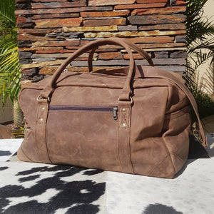 Executive Travel / Sport Bag - Matt Dark Brown