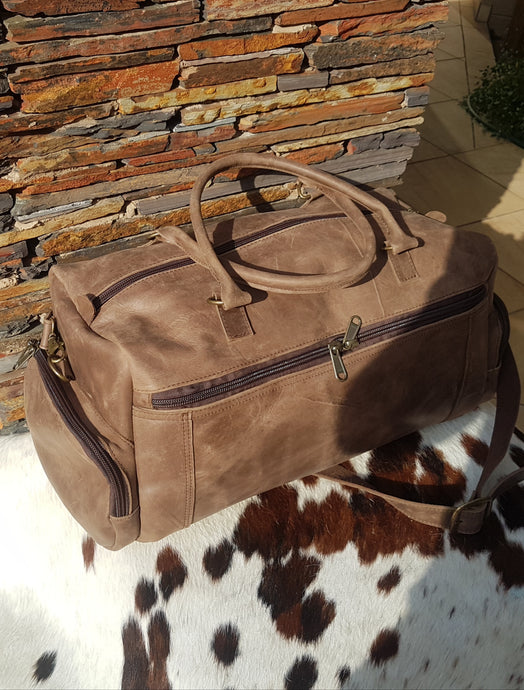 Extra Large Travelbag - Matt Dark Brown
