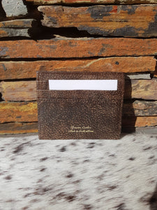Card Holder - Buffed Dark Brown