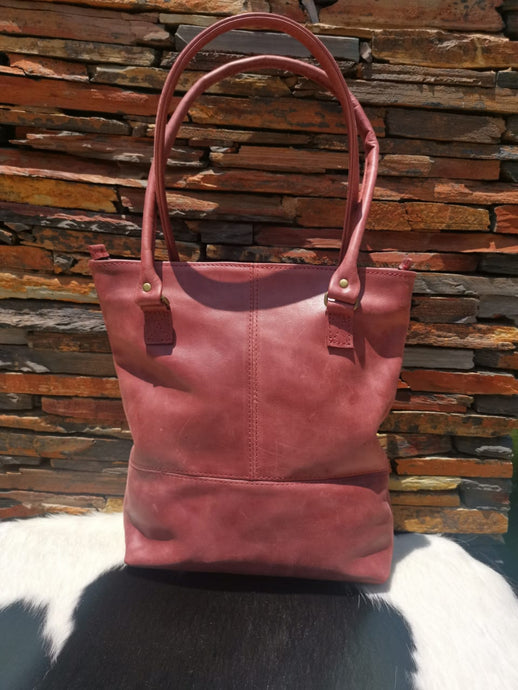 The Shopper Bag - Cherry Red