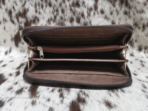 Ladies Wallet - Matt Dark Brown