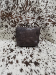 Make-Up Bag - Matt Dark Brown