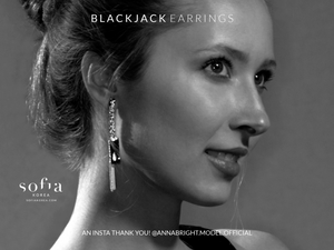 Blackjack Earrings - Sofiakorea