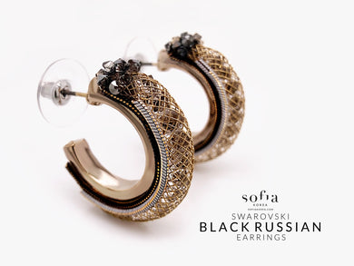 Black Russian Earrings