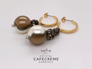 Cafe Creme Earrings - Sofiakorea