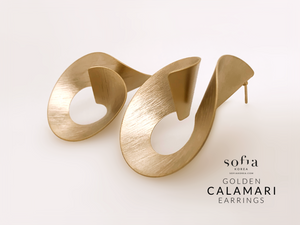 Calamari Earrings - Sofiakorea