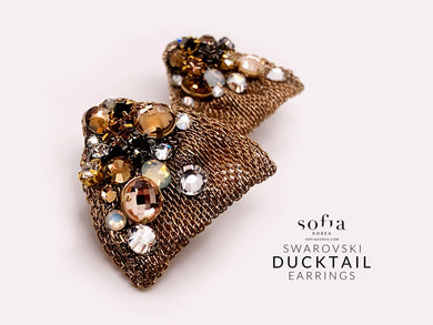 Ducktail earrings