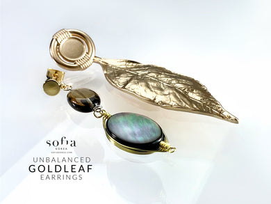Goldleaf Earrings - Sofiakorea