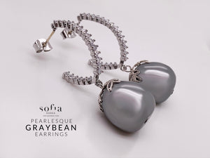 Graybean Earrings - Sofiakorea