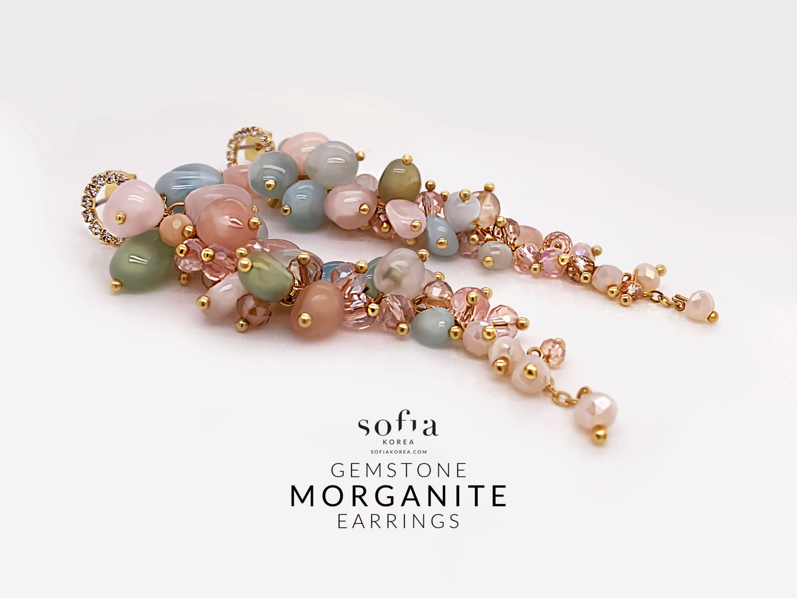 Morganite Earrings - Sofiakorea