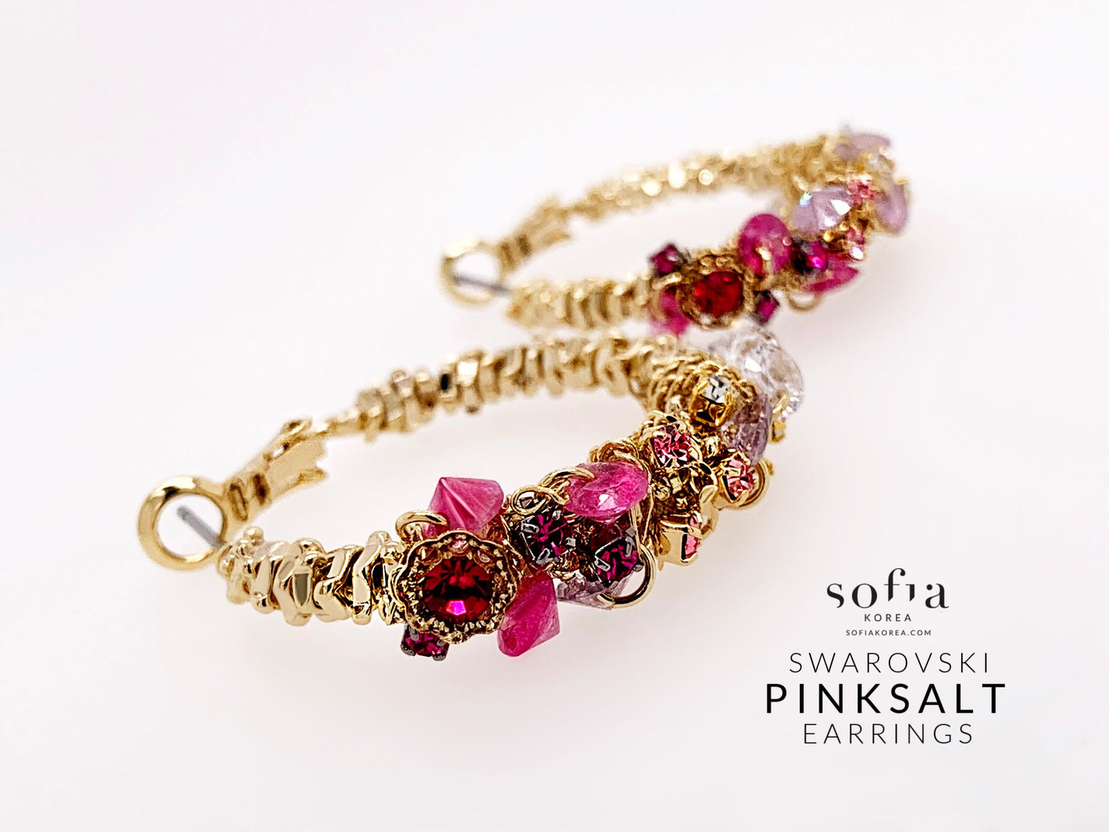 Pinksalt Earrings - Sofiakorea