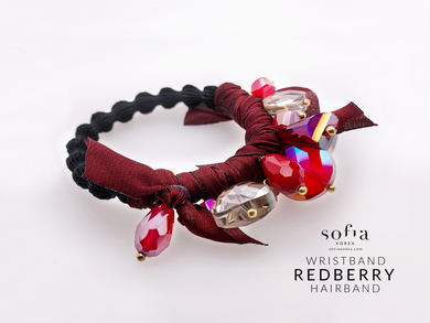 Red Berry Hairband - Sofiakorea