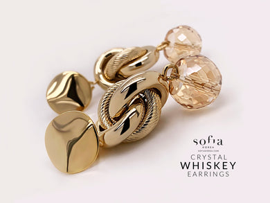 Whiskey Earrings