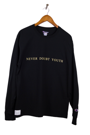 Black Never Doubt Youth Long Sleeve