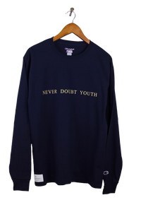 Navy Never Doubt Youth Long Sleeve