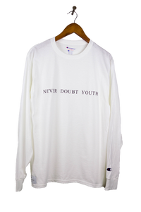 White Never Doubt Youth Long Sleeve