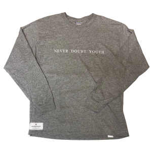 Grey Never Doubt Youth Long Sleeve