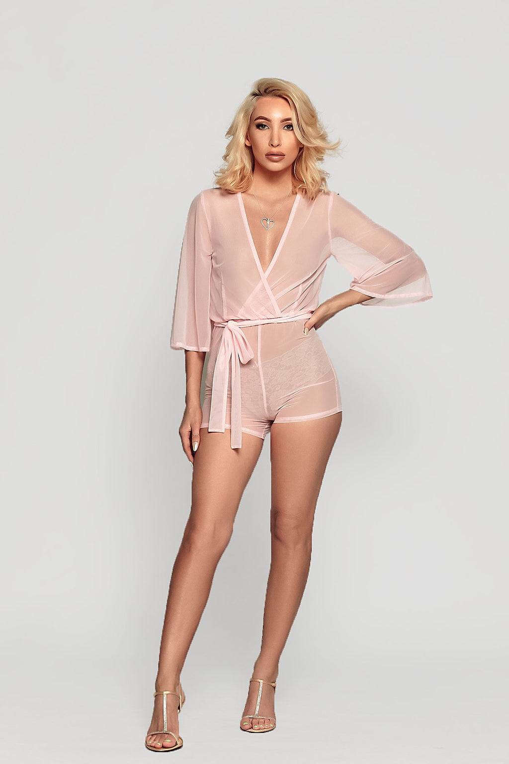 EVA MESH ROMPER - Baby Pink available soon