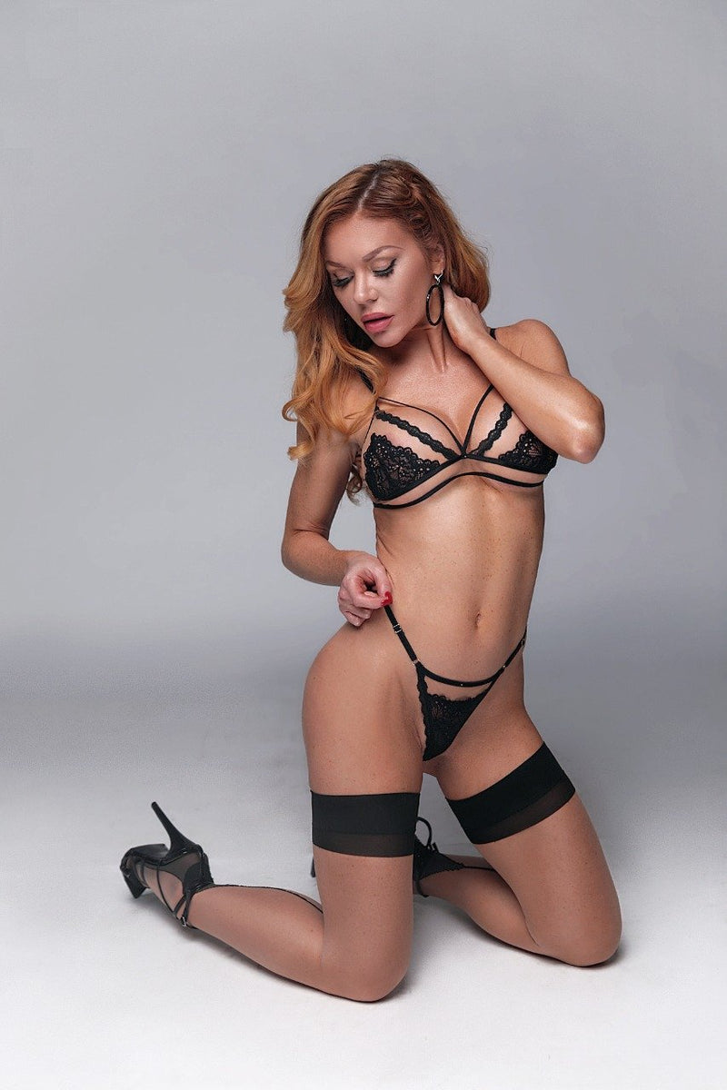 VALENTINA BLACK BRA AND PANTY SET