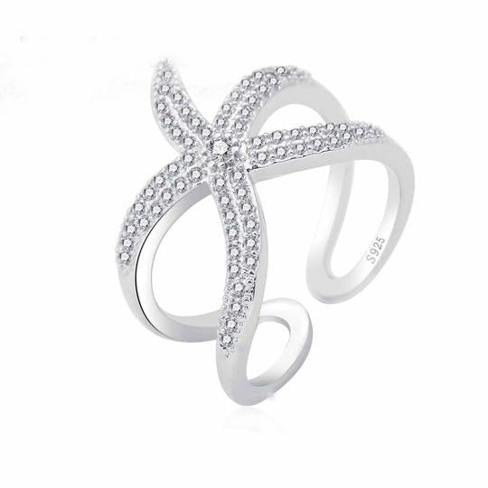 Starfish Design Sterling Silver Fashion Ring (.925)