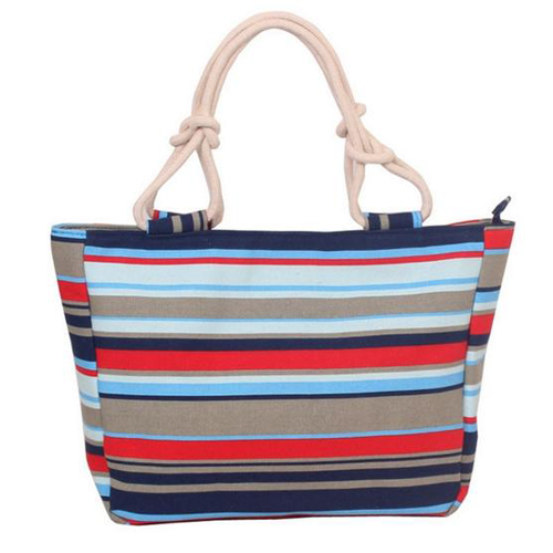 Large Striped Beach Totes - 3 Colors to Choose From