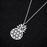 Pineapple Cutout Necklace - Gold, Silver, and Rose Gold