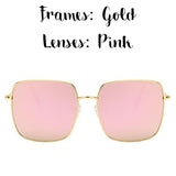 Vintage Square Oversized Sunglasses