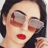 Vintage Square Oversized Sunglasses - On Sale! FREE SHIPPING!!!