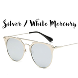 Vintage Round Mirror Sunglasses (Cat Eye Frame) - On Sale! FREE SHIPPING!!!