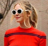 Retro Vintage Oval Round Sunglasses for Women