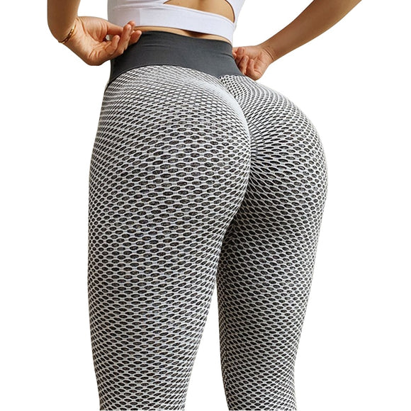 High Waisted Grid Tights - Seamless Yoga Pants for Women (Many Colors)