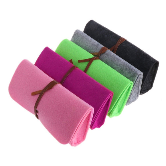 Super Cute Soft Felt Sunglass Case with Belt Closure