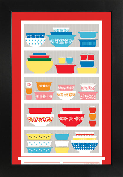 Vintage Pyrex Poster - The Collector