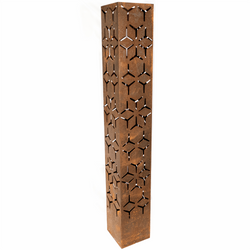 Geo design CorTen LED light tower for indoor or outdoor Use - Edge It Co