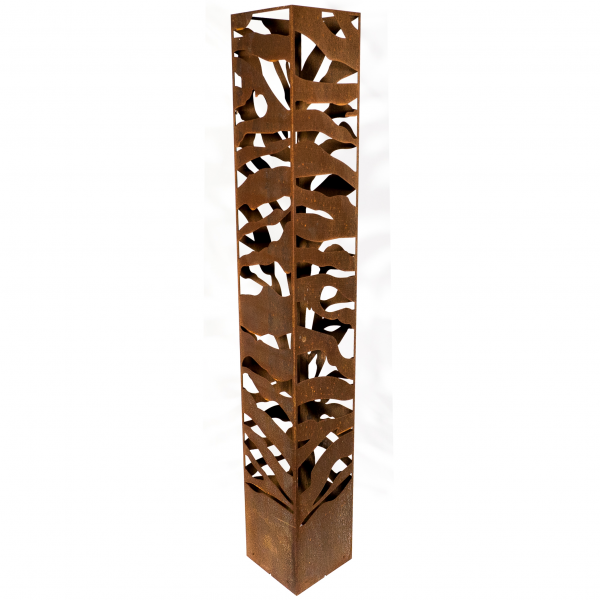 Zebra Design CorTen LED Light Tower for Indoor and Outdoor Use - Henderson Garden Supply