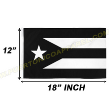 Load image into Gallery viewer, black puerto rican flag banner