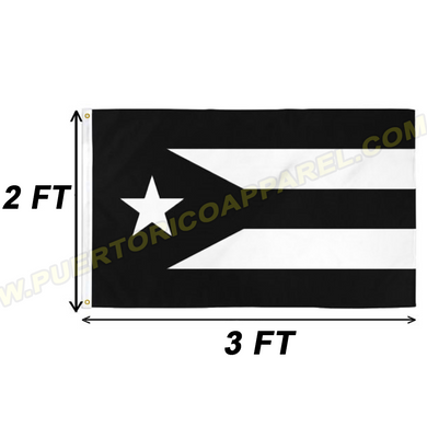 black puerto rican flag