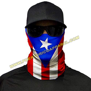 Puerto Rico Flag Face Mask Shield | Neck Gaiter