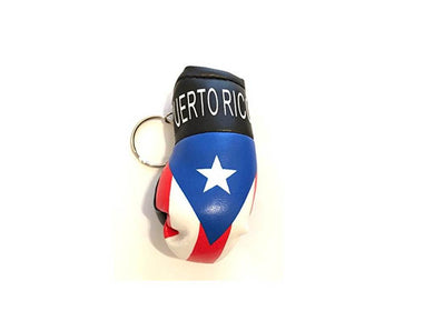Puerto Rico Boxing Glove Keychain