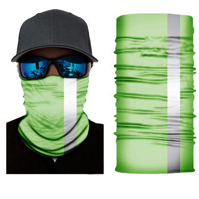 fluorescent green neck gaiter
