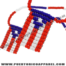 Load image into Gallery viewer, puerto rico flag necklace