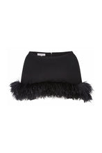 Load image into Gallery viewer, Feather Capelet Black