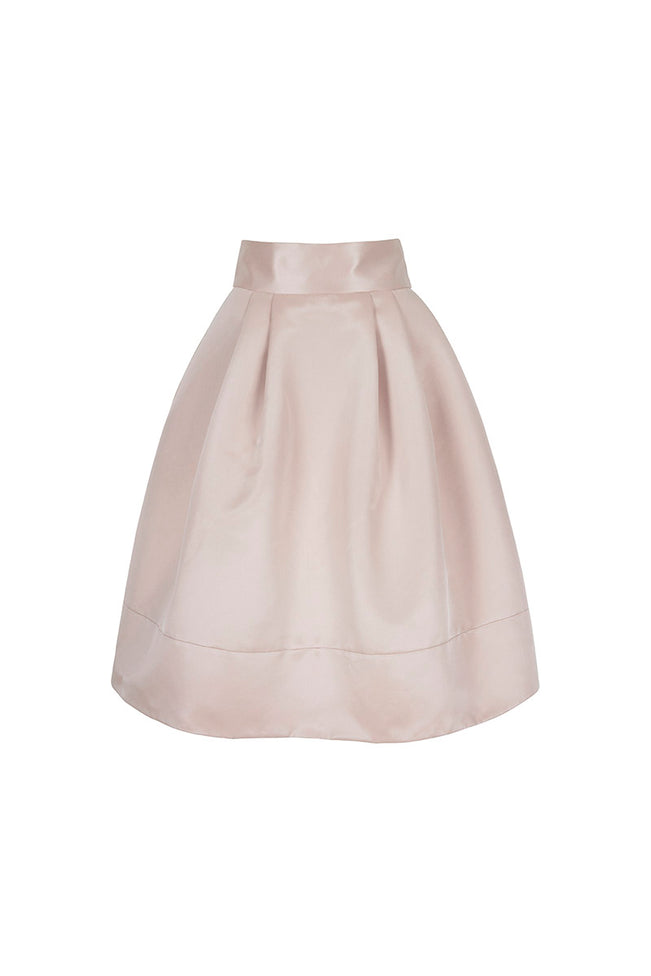 1950s Influenced Twill Skirt in Cosmetic Pink