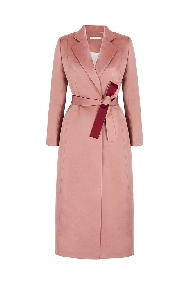 Marylebone Coat-Dress Rosewood