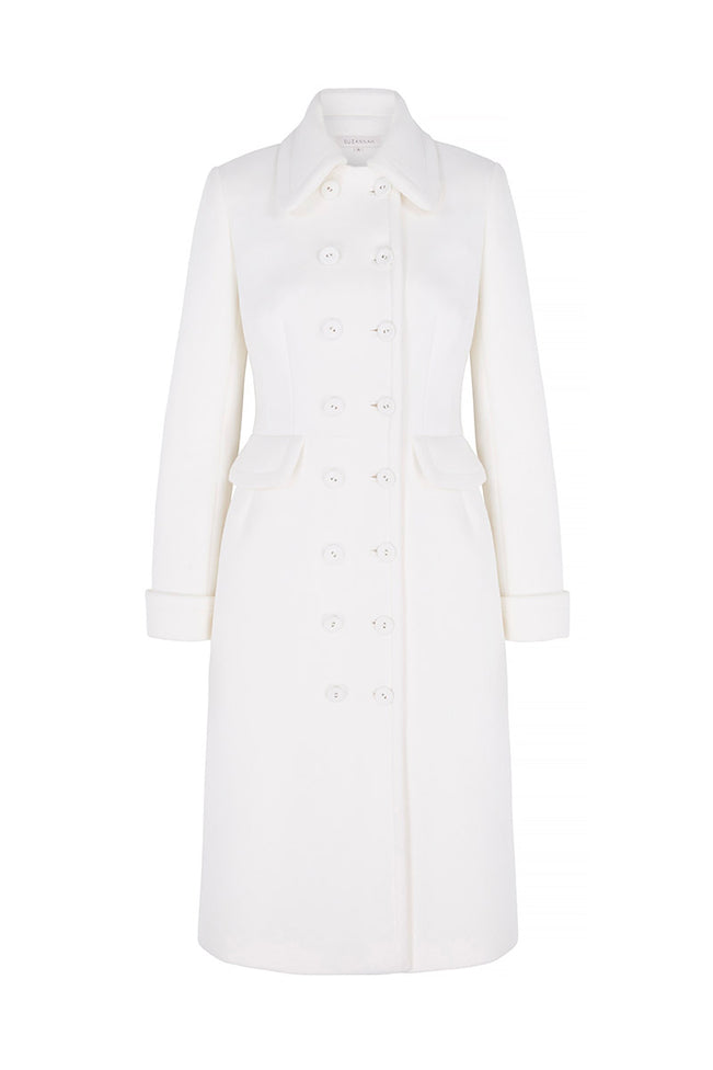 Charming Cashmere Occasion Coat Ivory