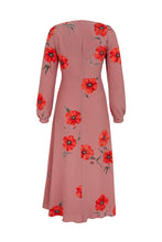 Load image into Gallery viewer, Long Sleeve Tea Rose Poppy Tea Dress