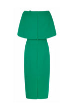 Load image into Gallery viewer, Aimee Dress and Capelet Drape Emerald Green
