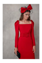 Load image into Gallery viewer, Red Suede Wide Waist Belt