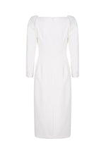 Load image into Gallery viewer, Alice Dress Ivory Wool Crepe