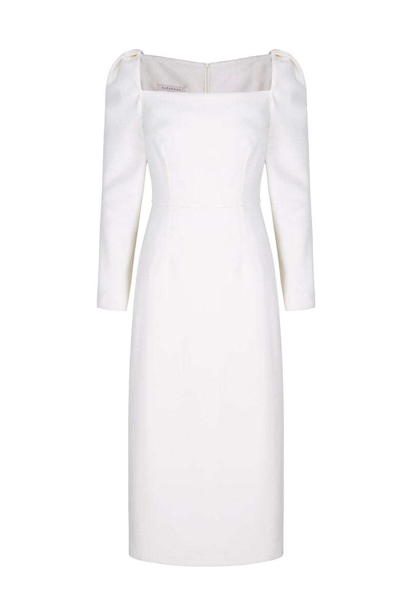 Alice Dress Ivory Wool Crepe